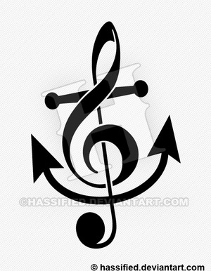 Treble Clef Anchor