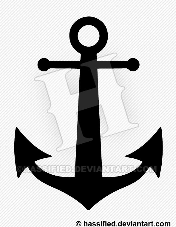 Anchor Silhouette - printable, vector, svg, art