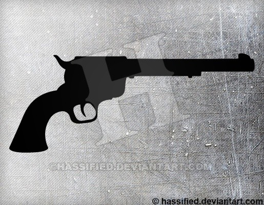 Colt Pistol - printable, vector, svg, art