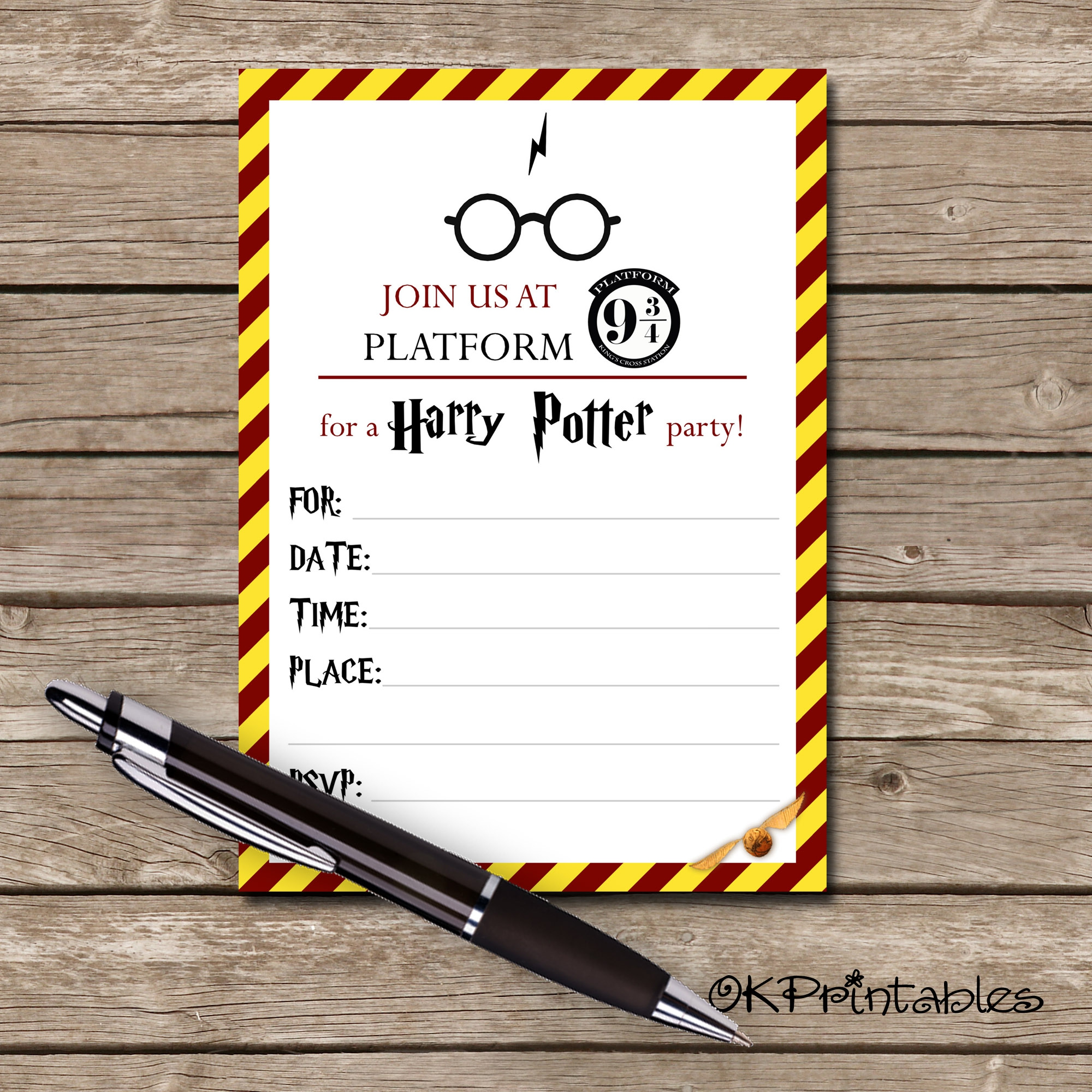 image relating to Printable Harry Potter Invitations known as Harry Potter Invitation- Printable invite Harry Potter - HP Celebration invite- 5x7 invite- Prompt Downlo