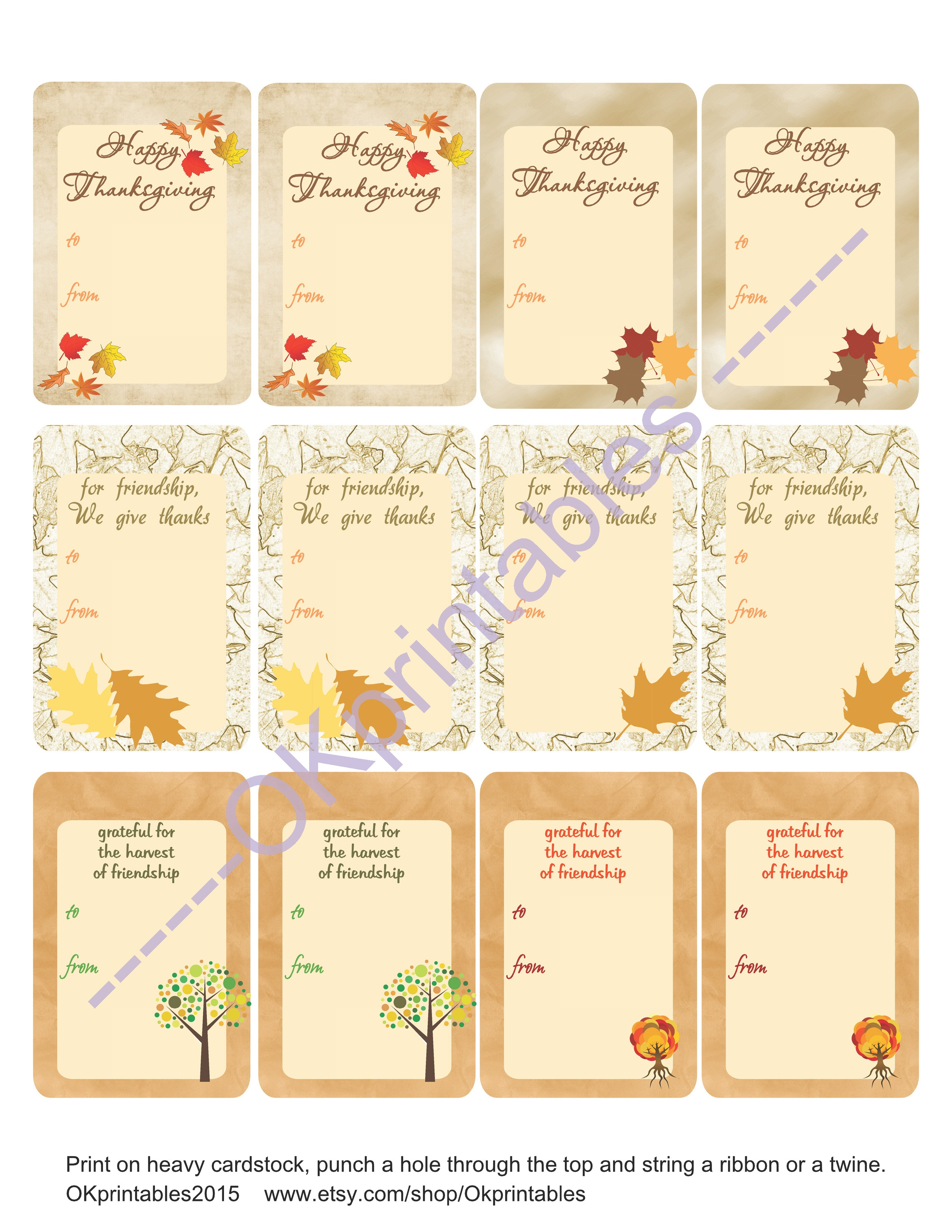 image about Printable Cardstock Tags identify Thanksgiving Present Tags, Trip Tags, Electronic Thanksgiving Tags. Printable Tags, Thank Oneself Tags,