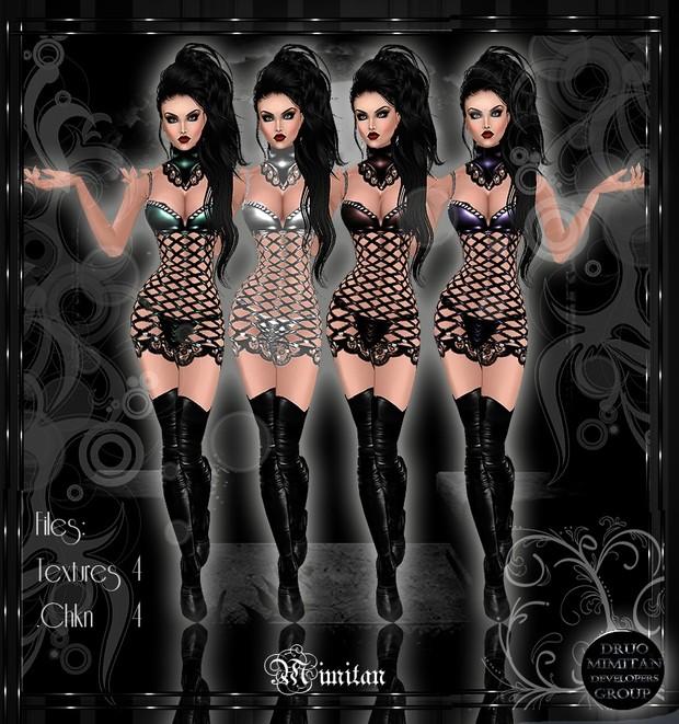 4 Metal dresses