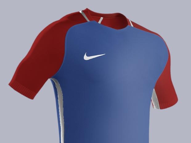 Football kit mockup PSD HD template full editable. Model: Nike Strike Aeroswift
