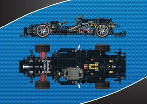 Lego Technic MOC Mercedes-Benz C63 - DTM - manual chassis