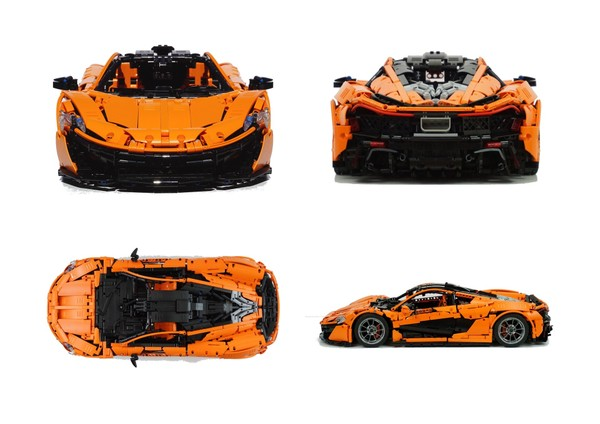 Lego Technic MOC McLaren P1 hypercar 1:8 building instructions - manual version only ! -