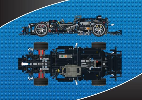 Lego Technic Moc Mercedes Benz Amg C63 Dtm Rc Chassi