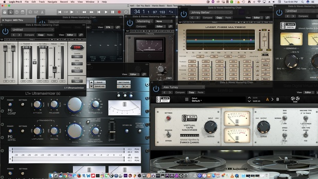 Mastering Chain for Logic Pro X: Slate Digital & Waves Plugins Regquired