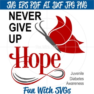 Juvenile Diabetes Awareness, Never Give Up HOPE,