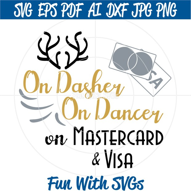Black Friday SVG File, On Dasher, On Dancer, PNG, EPS, DXF and SVG Cut File, Printable Graphics