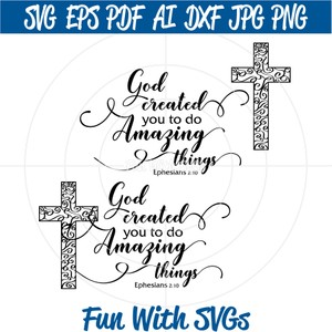 God Created You SVG File, Christian SVG Files, Silhouette SVG Files, Cricut SVG Files, SVG Cut File