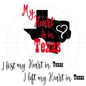 My Heart is in Texas SVG, Texas, Hurricane Harvey FREE SVG, Cricut, Silhouette, Printable