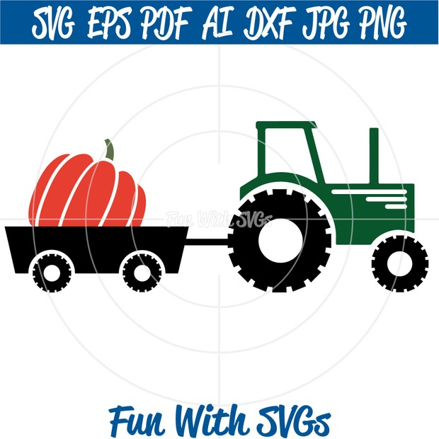 Fall Tractor SVG, Fall Pumpkin svg, Pumpkin Tractor SVG, Fall svg Files, SVG Files