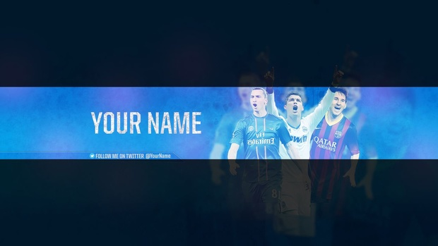 Football youtube banner template (PSD FILE)