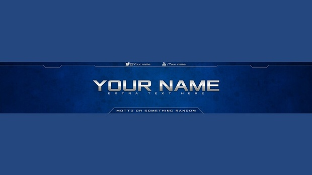 Grunge youtube banner template (PSD FILE)