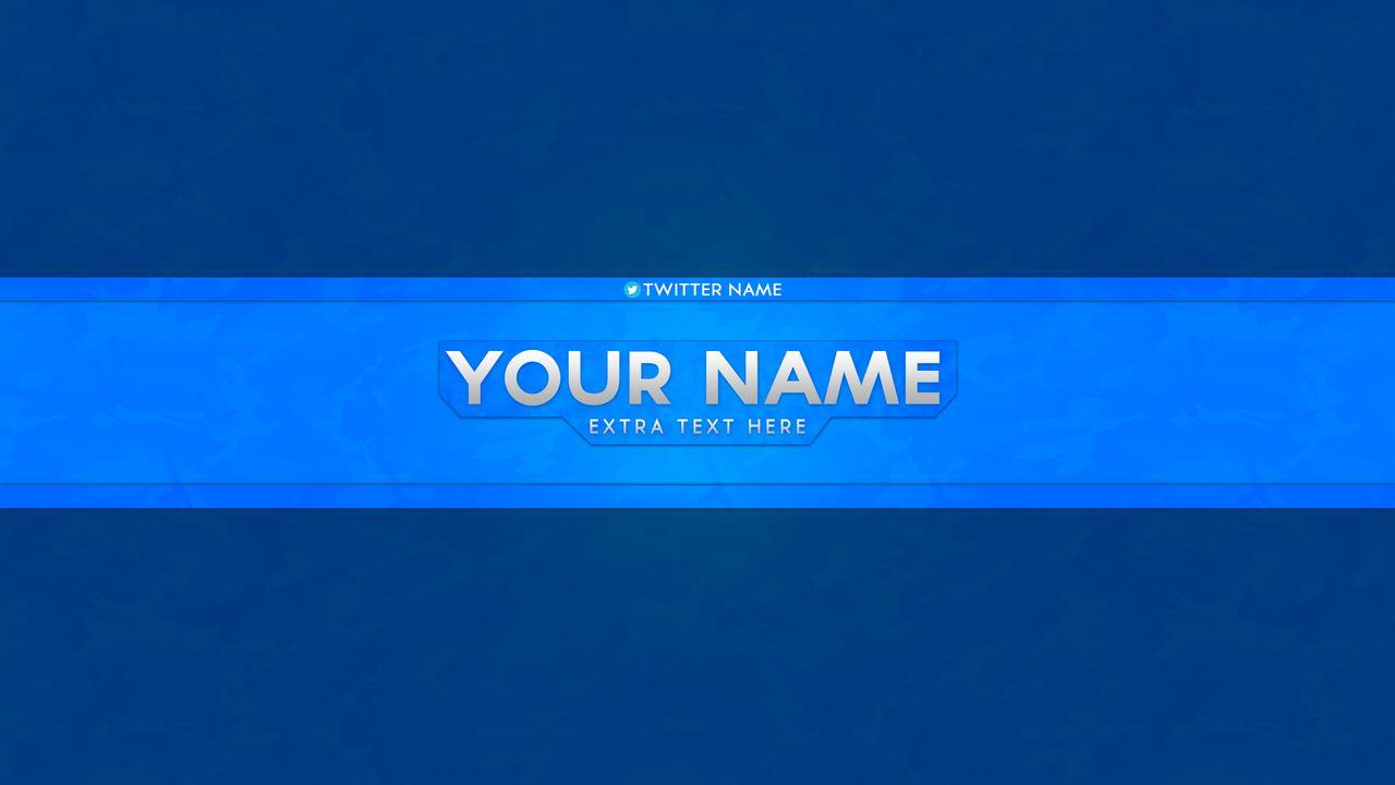 blue youtube banner