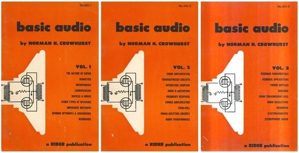 BASIC AUDIO Vol. 1-3 - Intro to Tube Hi-Fi - Crowhurst, 1959