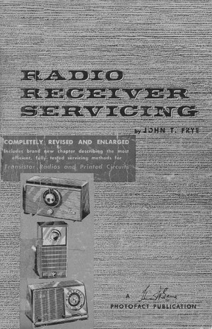 Radio Receiver Servicing - 1959 - Learn How to Service Your Antique Radio