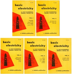 BASIC ELECTRICITY Vol. 1-5 - A Rider Publication (1954)