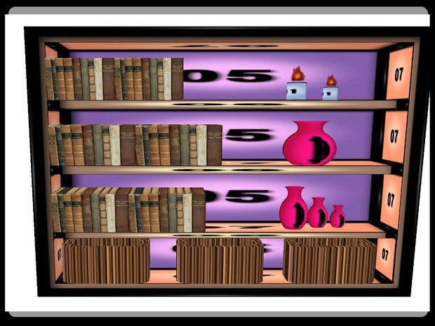 Book Case w Candles