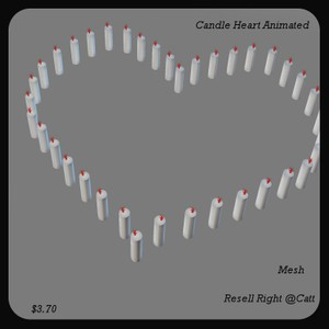 Candle Heart Animated