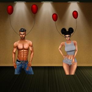 Balloon earrings M&F