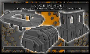 Large Bundle - Cathedral, Power Facility, & Platform