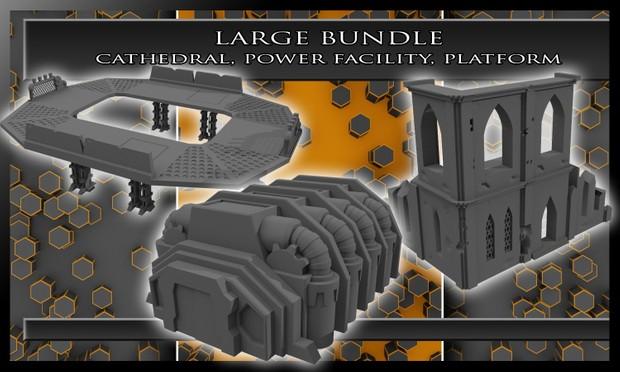 Large Bundle - Cathedral, Power Facility, & Platform