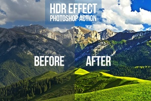 HDR Effect Photoshop Action