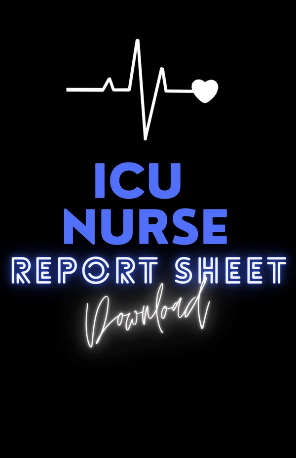 ICU NURSE BRAIN SHEET ♡