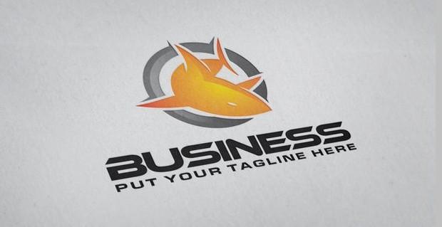 Fire Shark Hosting Logo Design