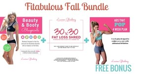 Fitabulous Fall Bundle (Beauty and Booty Blueprints + 30x30 + FREE BONUS Abs That POP Plan)
