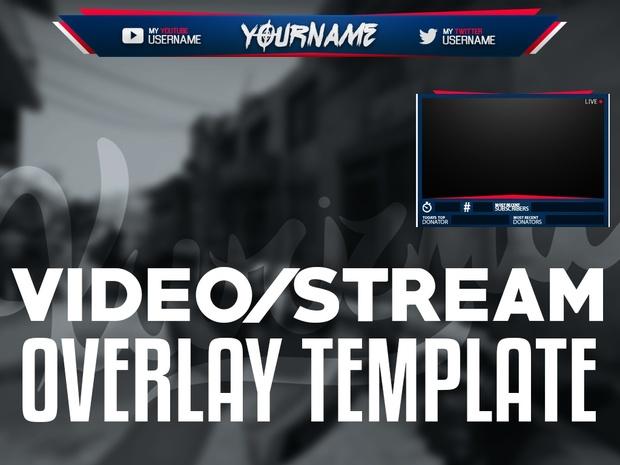 Video/Stream Overlay Template
