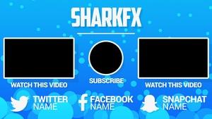 Sharkfx 3k special outro template 14nov2016 sharkfx maxwellsz