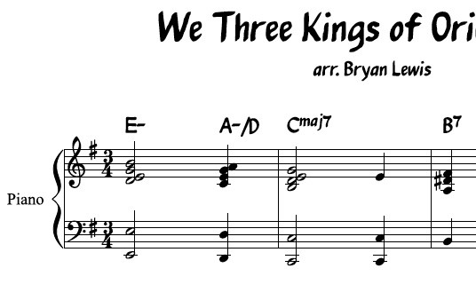 We Three Kings of Orient Are - piano sheet music