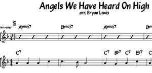 Angels We Have Heard On High - jazz lead sheet