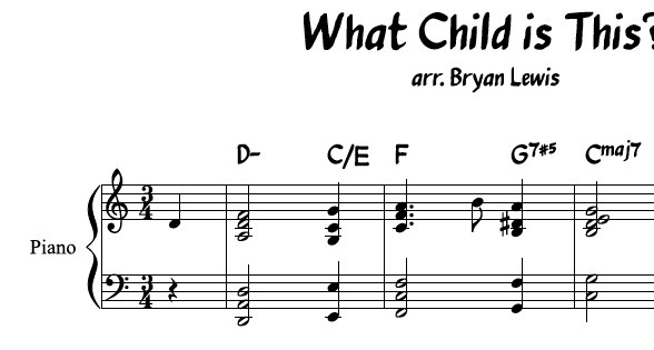 What Child Is This? - piano sheet music