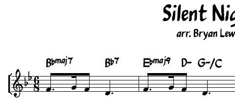 Silent Night - jazz lead sheet