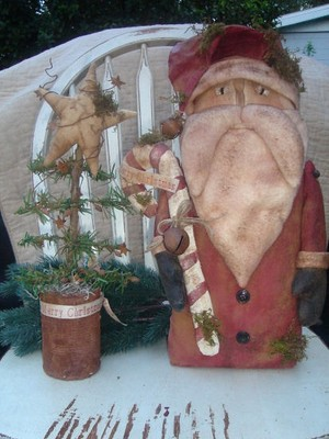 #412 Olde Thyme Santa e pattern