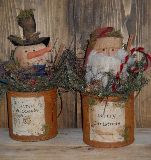 #316 Christmas Cans E Pattern