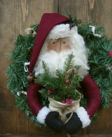 #320 santa wreath e pattern