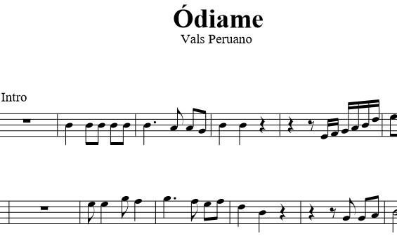 Ódiame (Vals peruano) - Violín