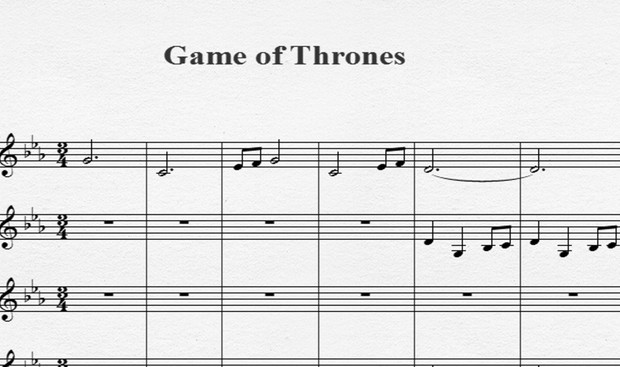 Game of Thrones (4 violines)
