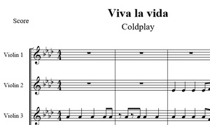 Viva la vida (4 violines) Coldplay