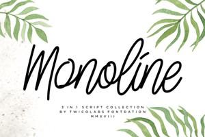 Monoline Script Collection - 3 Fonts