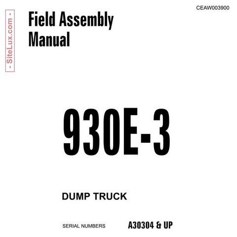 Komatsu 930E-3 Dump Truck Field Assembly Manual (A30304 and up) - CEAW003900