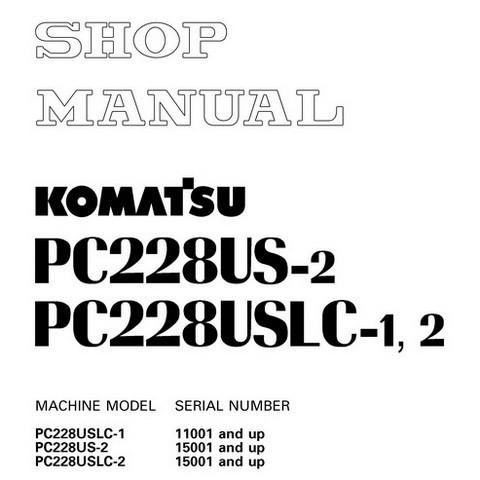 Komatsu PC228US-2, PC228USLC-1, PC228USLC-2 Hydraulic