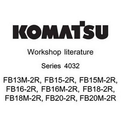 Komatsu Series 4032 Forklift Truck Service Repair Workshop Literature - 40328042305-EN