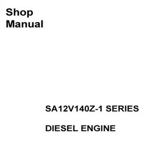 Komatsu SA12V140Z-1 Series Diesel Engine Service Repai