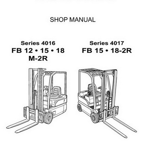 Komatsu Series 4016 & 4017 Forklift Truck Service Repair Workshop Manual - 60424131-GB