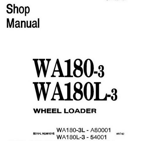 Komatsu WA180-3, WA180L-3 Wheel Loader Service Repair